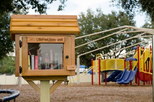 little free library in the park