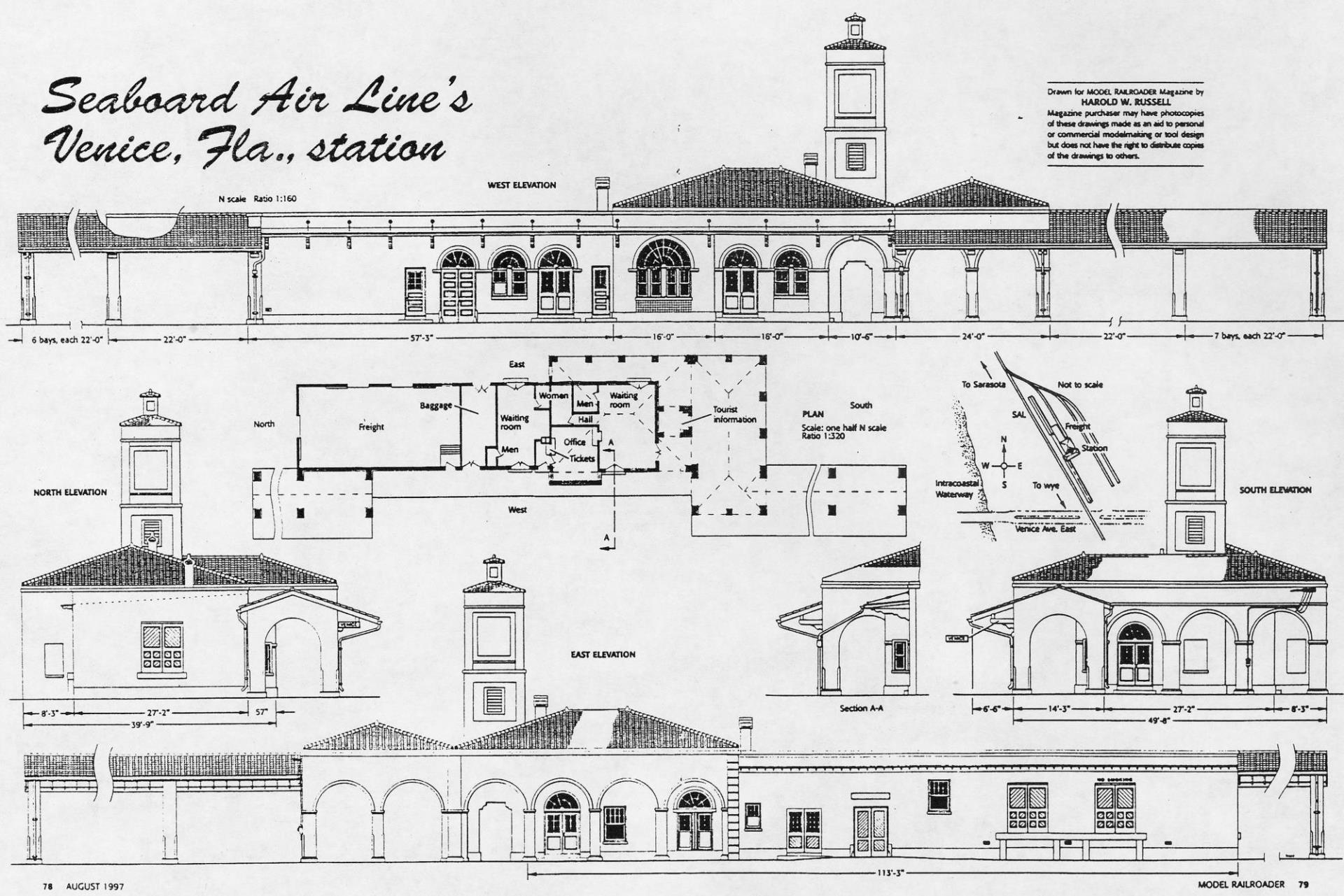 Venice train depot architectural drawing