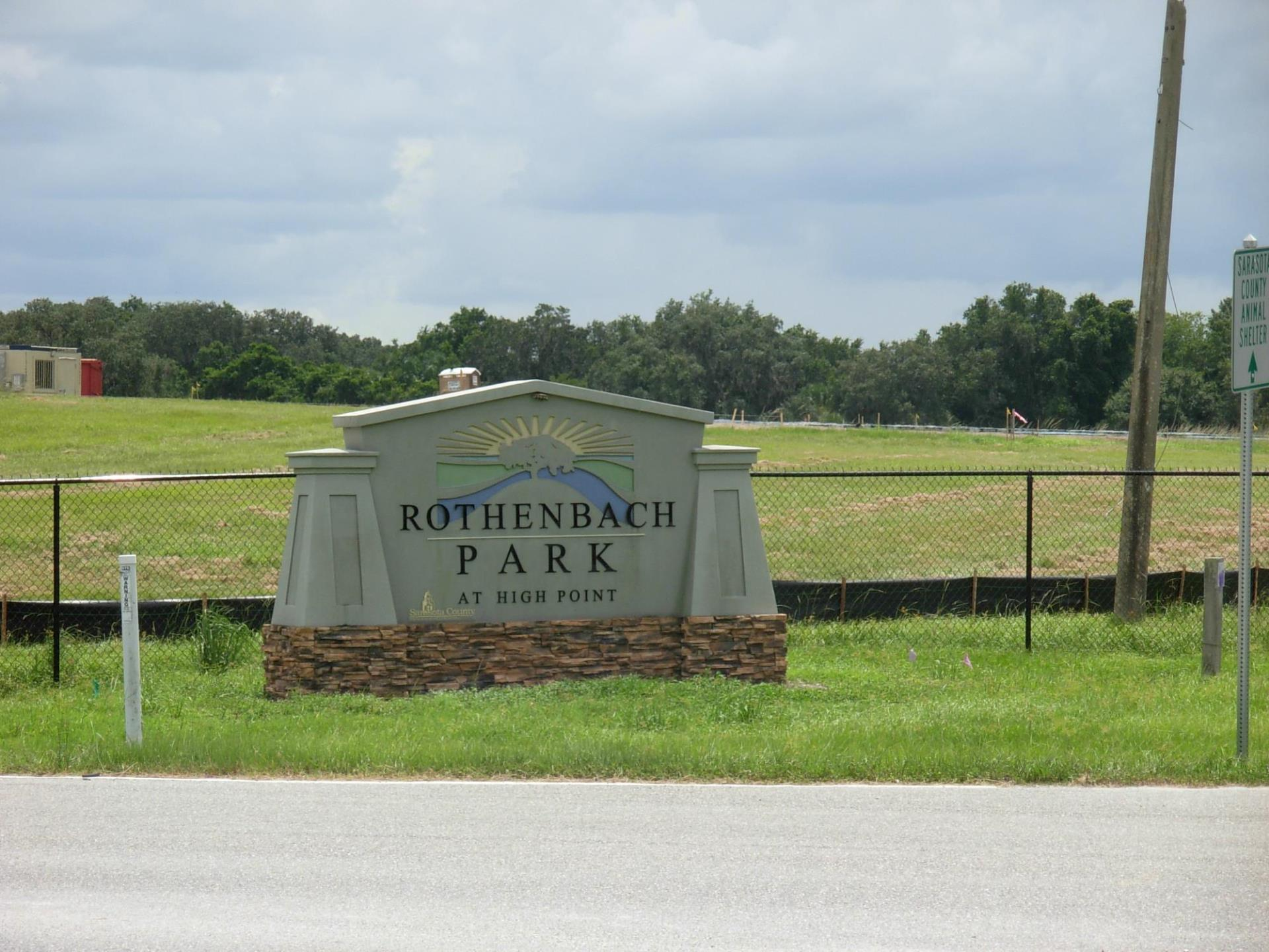 Rothenbach Park Sign