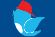 Twitter Bird wearing a Fireman hat