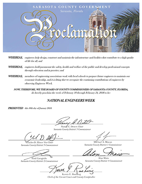 Proclamation for Engineers Week 2018