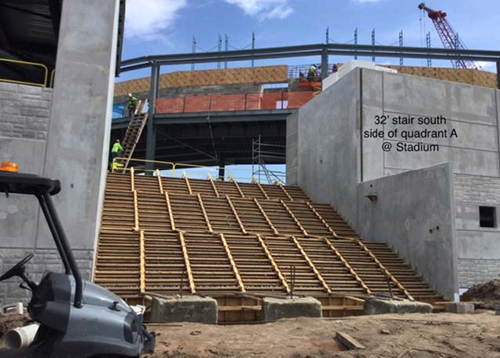ABSTF Progress - South stair of Quad A