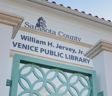 exterior of Sarasota County's William H. Jervey Jr. Venice Public Library