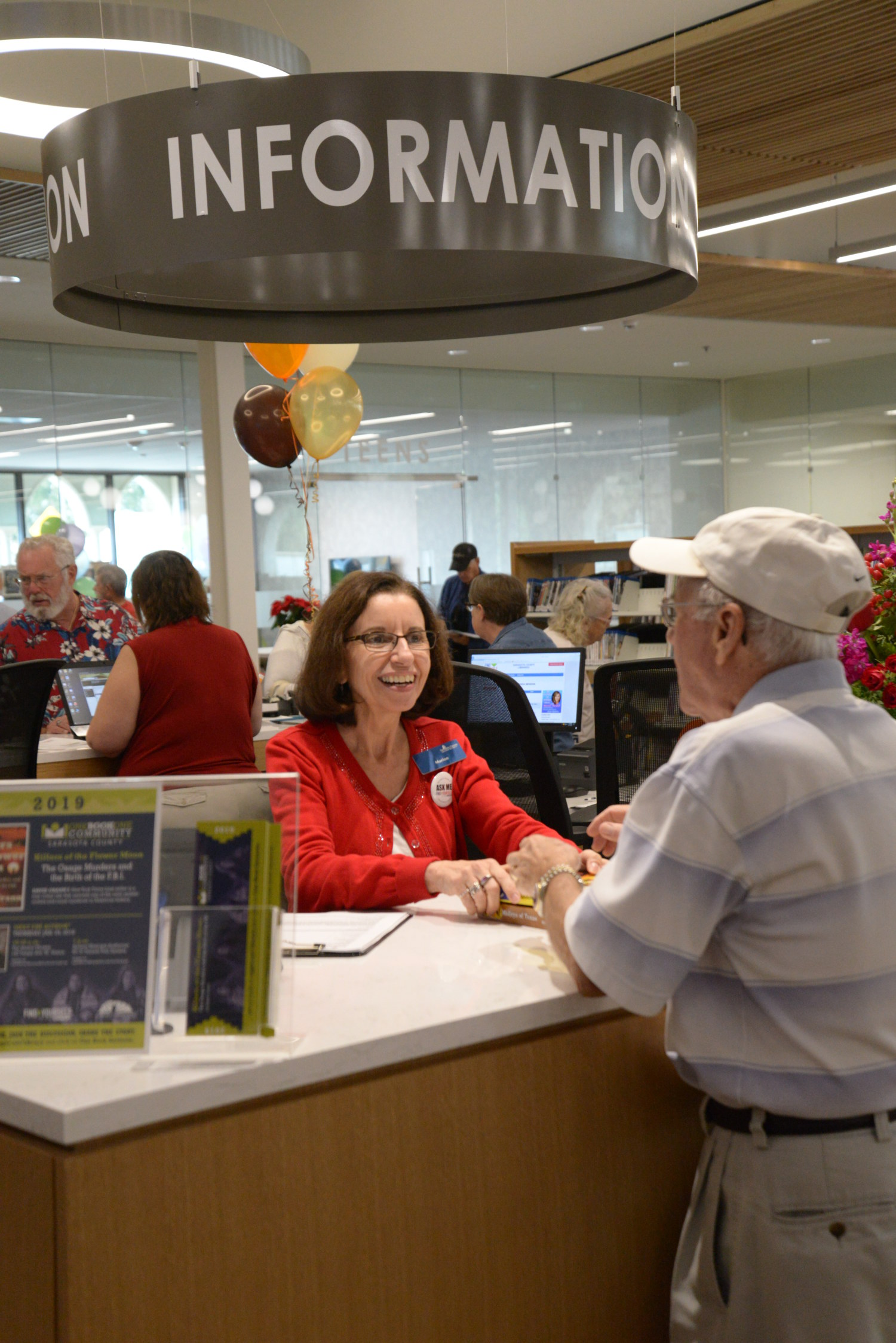 Immediately following the ribbon-cutting ceremony Dec. 15, 2018, library patrons checked out materials from the new William H. Jervey Jr. Venice Public library.