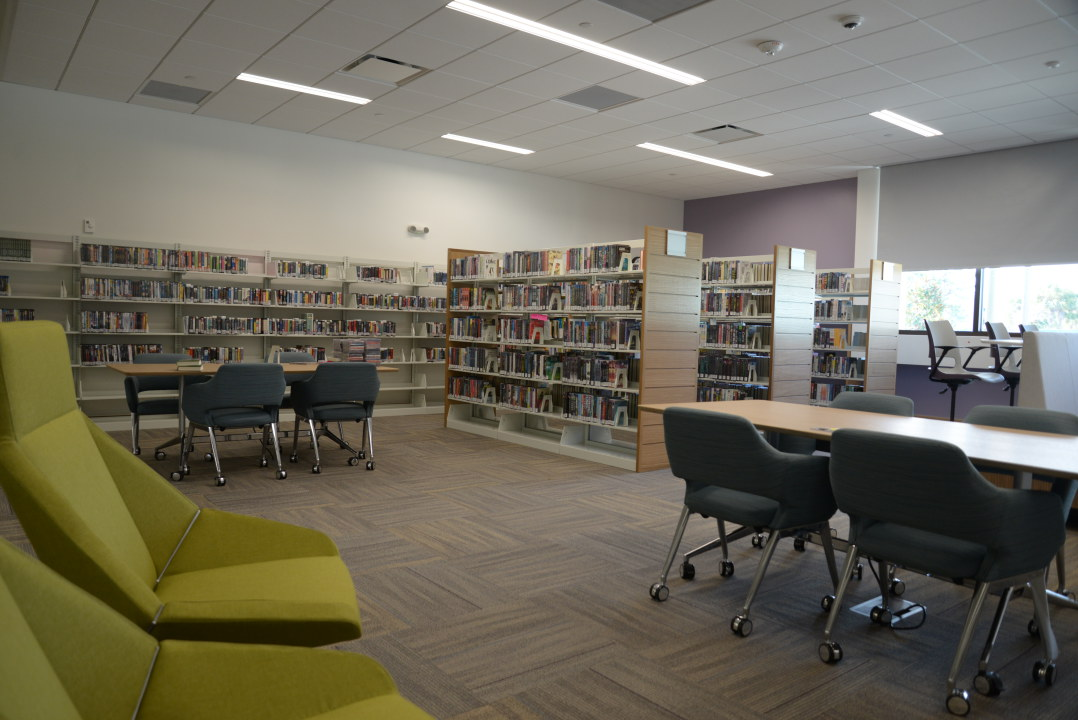 Inside view of the William H. Jervey Venice Public Library.