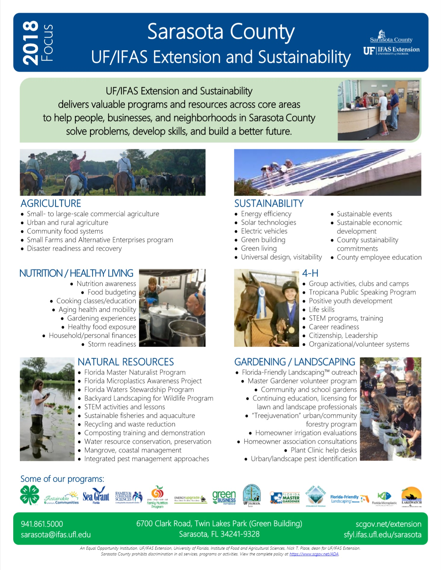 2018 Extension and Sustainability fact sheet