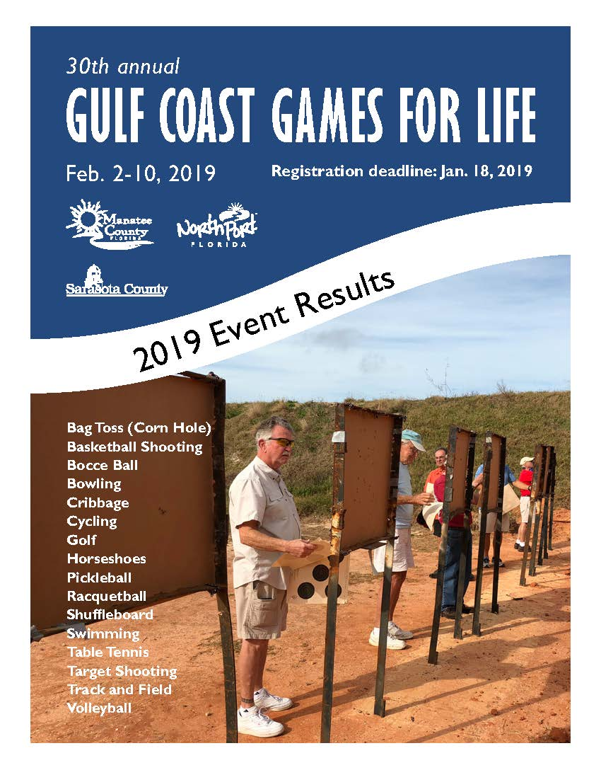 Cover for Gulf Coast Games For Life 2019 Results Book