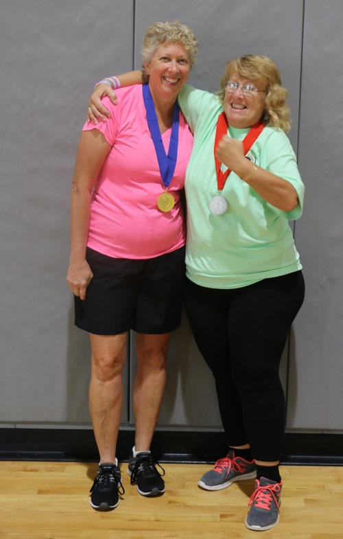 2019 Gulf Coast Games for Life Bag Toss Winners with their medals