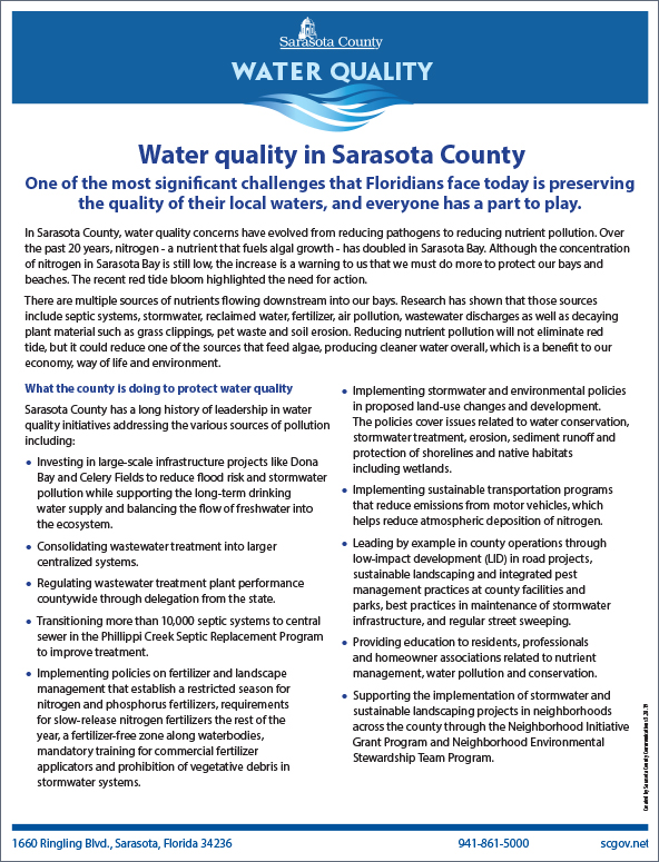 Water Quality Summit Fact Sheet