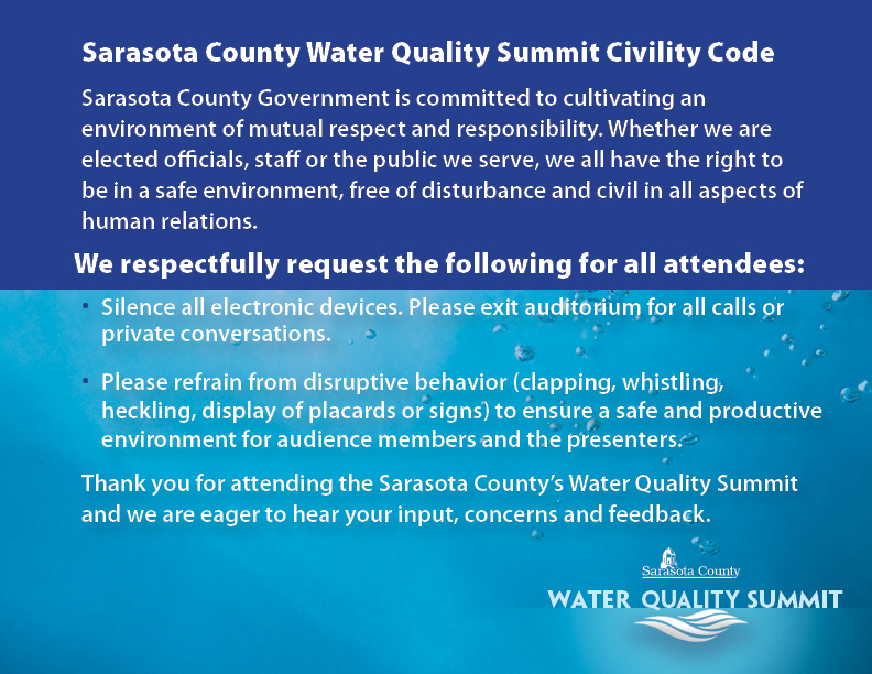 Water Quality Summit Civility Code