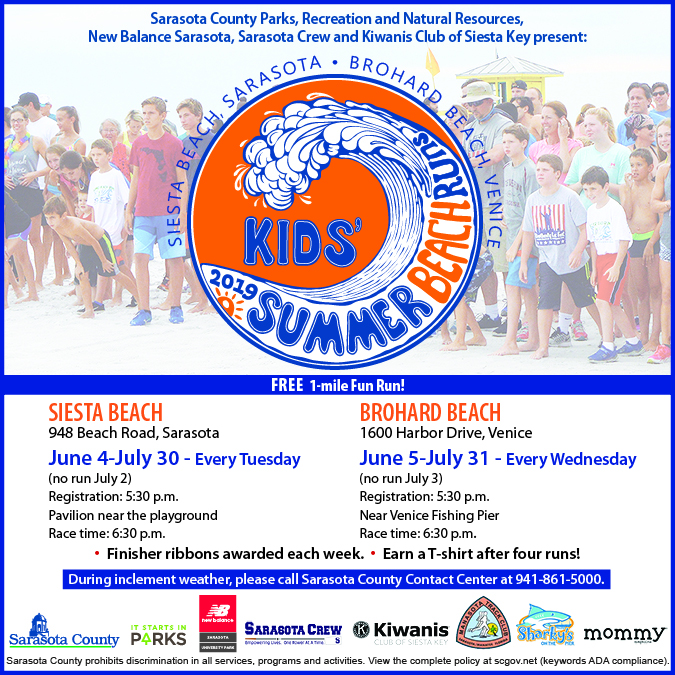 Kids Summer Beach Runs Flyer 2019