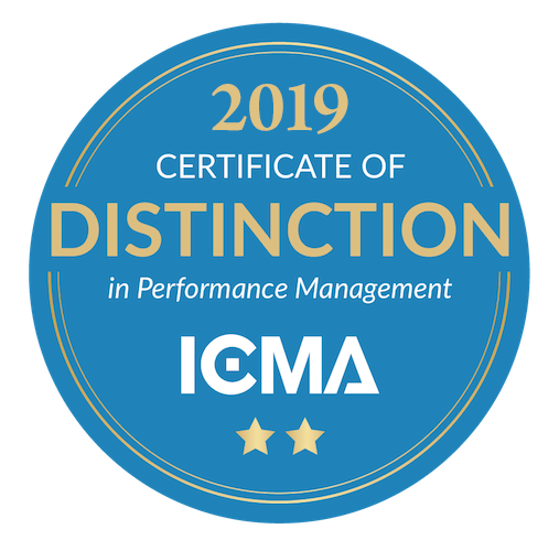 ICMA Certificate of Distinction