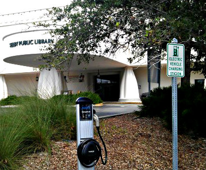 Electric Vehicle Charging Station - Selby Library