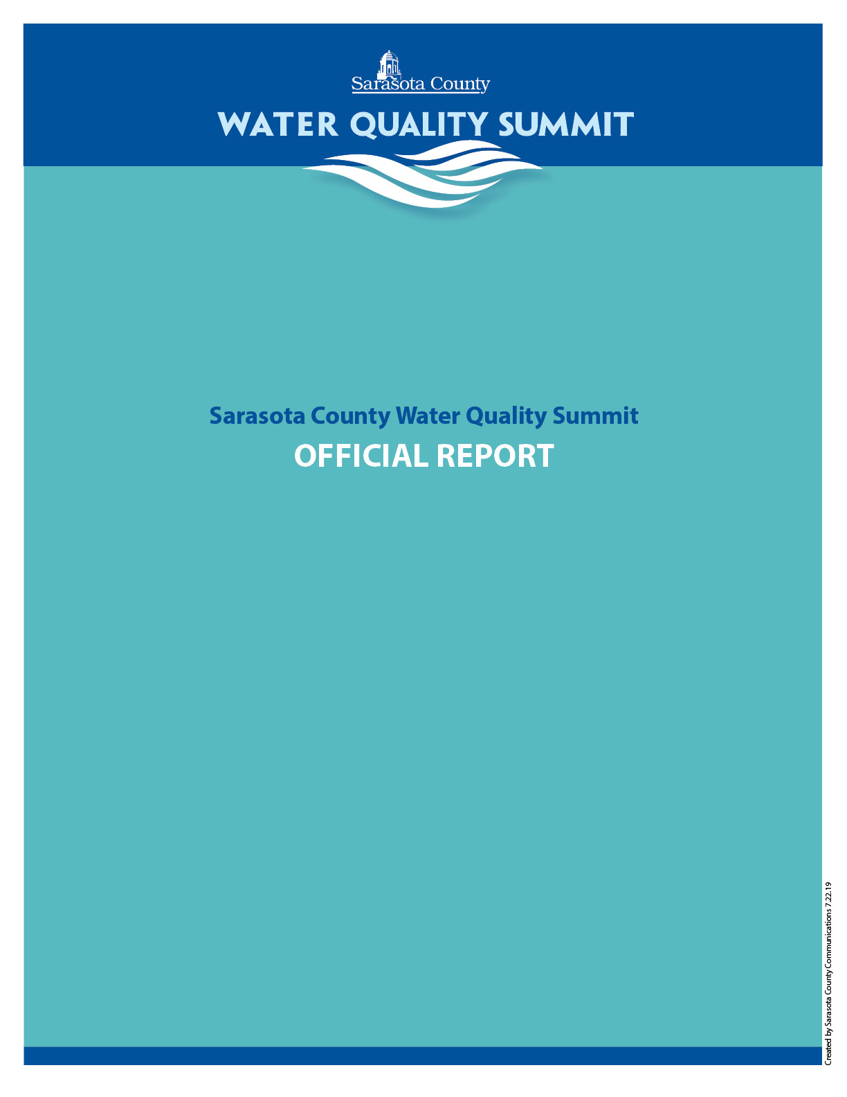 Water Quality Summit Report Cover