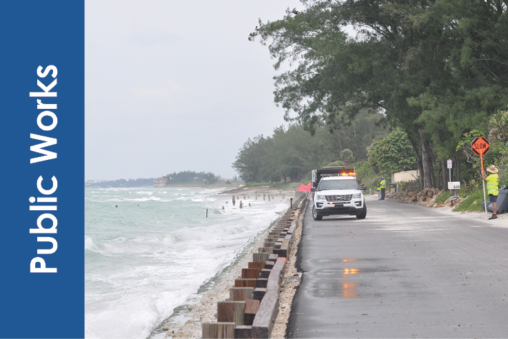 Public Works - Casey key Road with flooding Icon