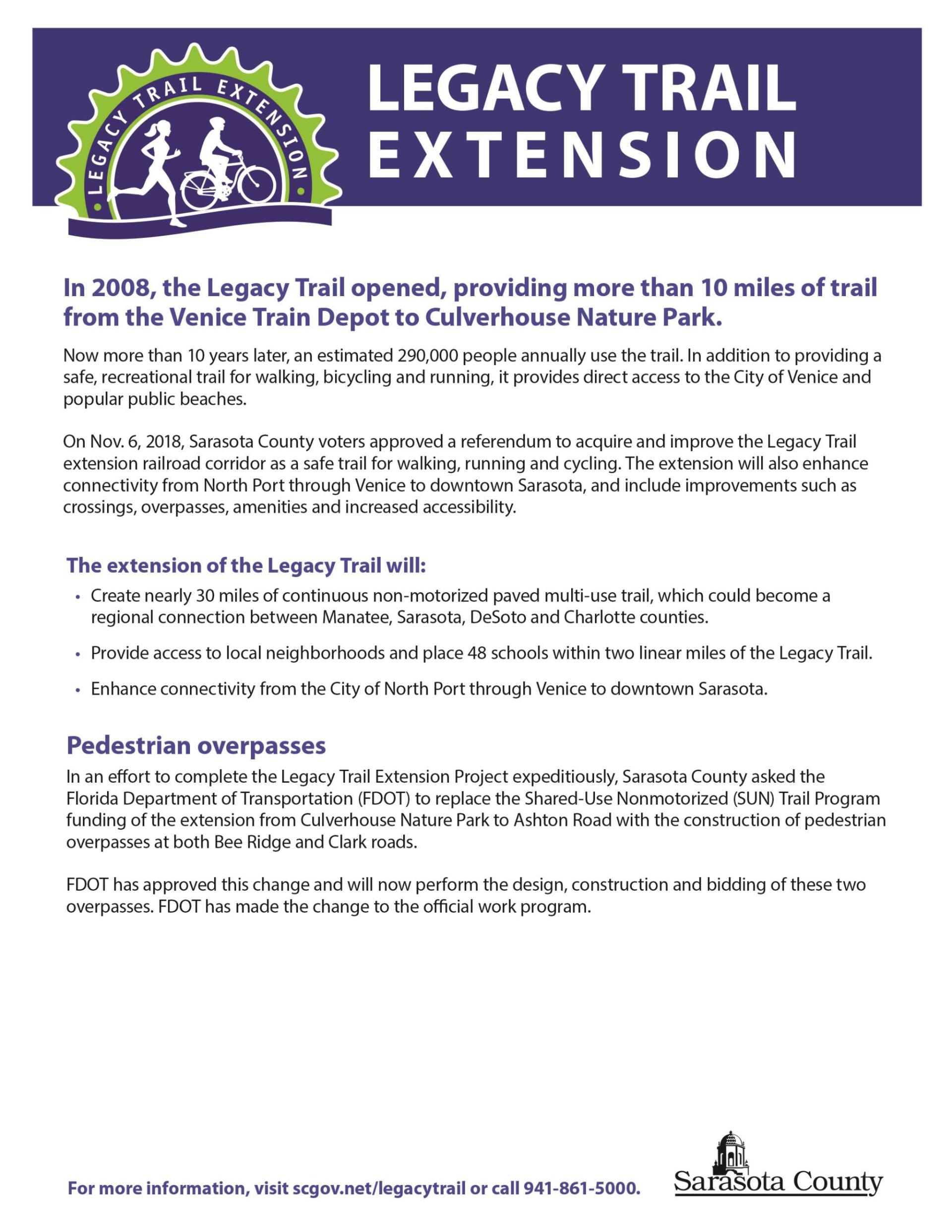 LegacyTrail extension Fact Sheet