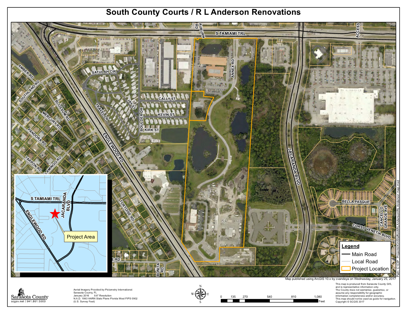 Project Location Map South County Courts-R.L. Anderson building remodel (002)