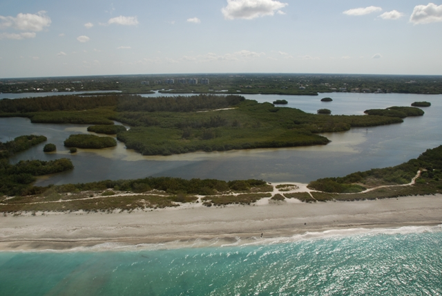 PP Aerial beach view and JN Marine Preserve web