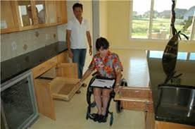 women in wheelchair in an accessible kitchen