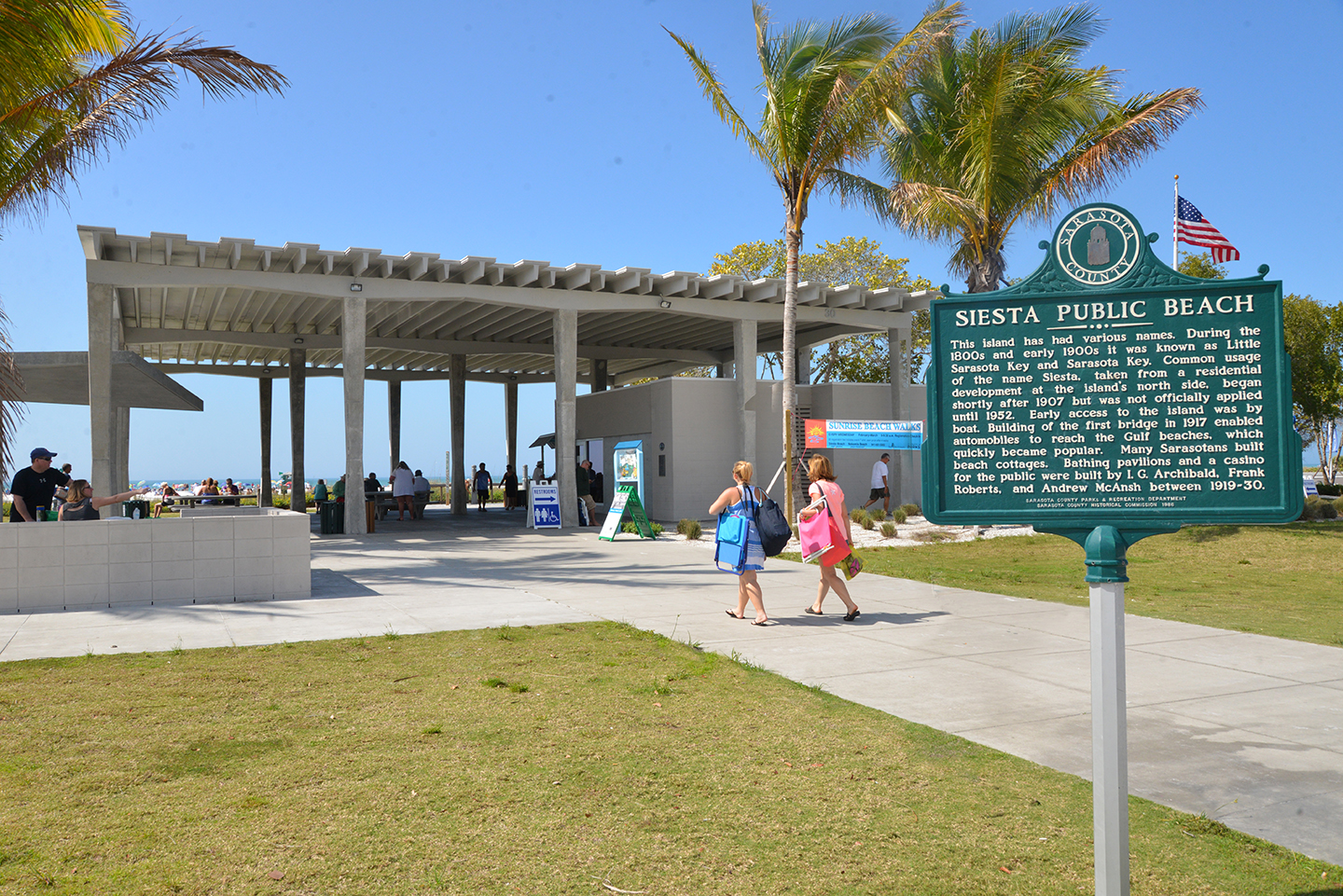 Siesta Beach Park Pavillion