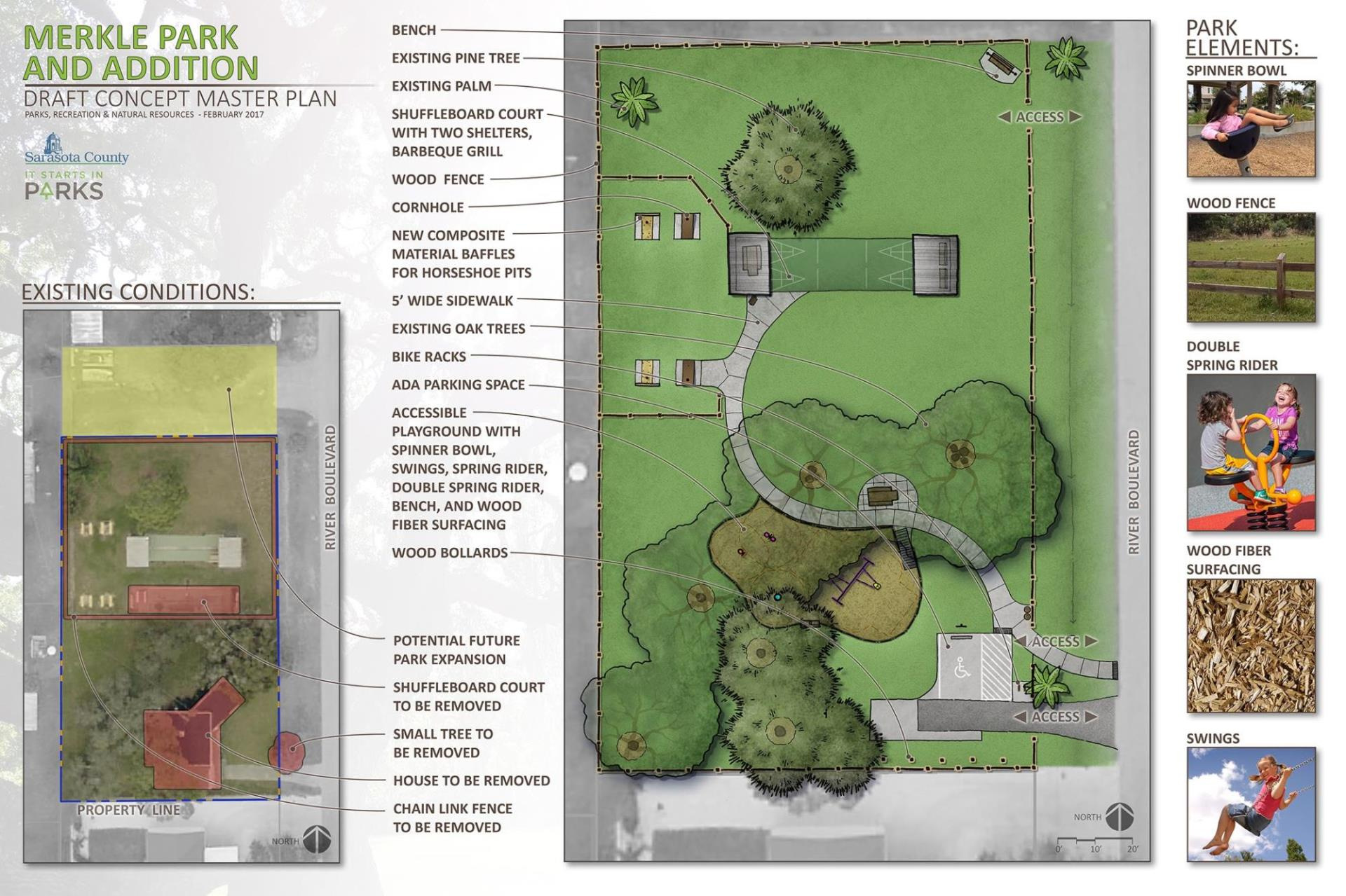Draft Site Concept Plan for Merkle Park