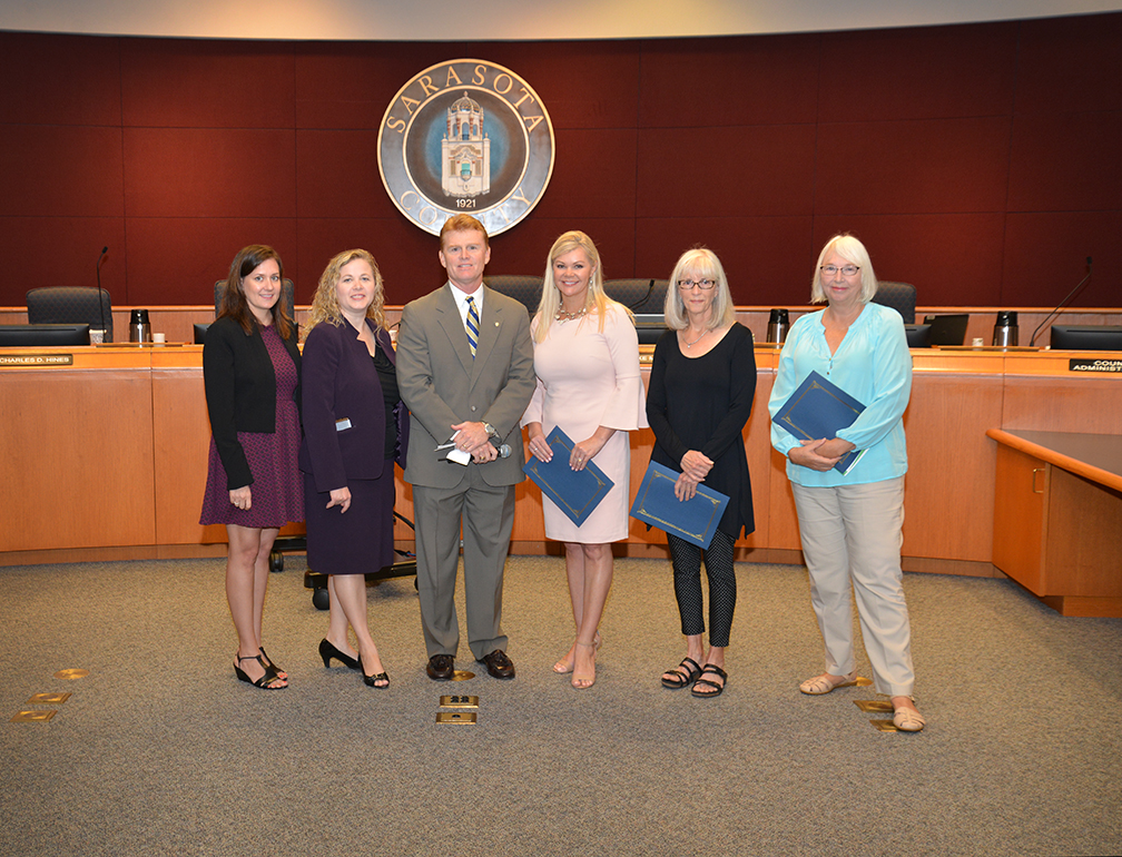 2017 Sarasota County Neighborhood Challenge Champions Recognized by Sarasota County Commission