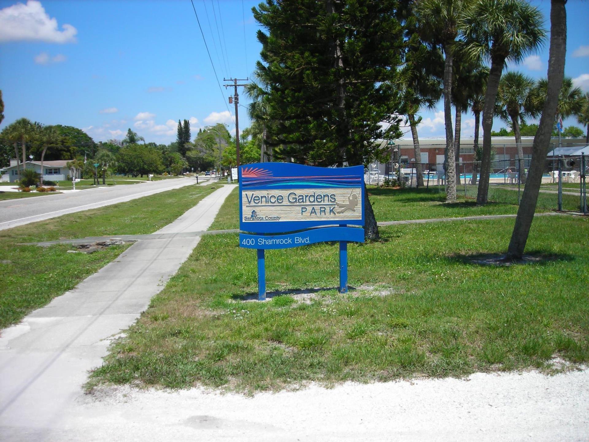 Venice Gardens Park Sign